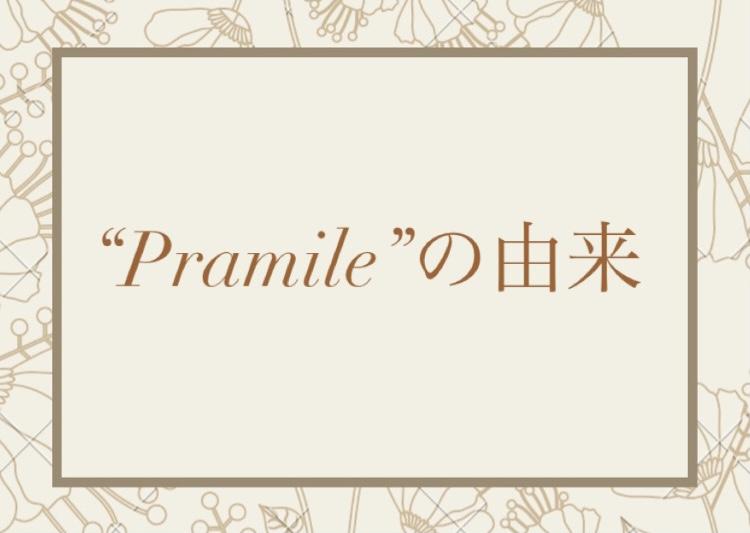 """""""Pramile""""の由来"""